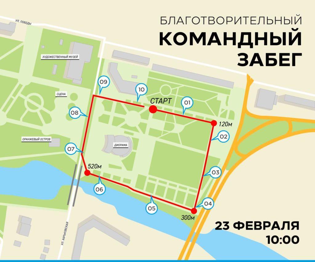 карта забега